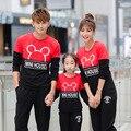 Свободного покроя семья одежда мультфильм топы мать / мама и дочь одежда отец и сын одежда семья стиль соответствующие одежды TT47