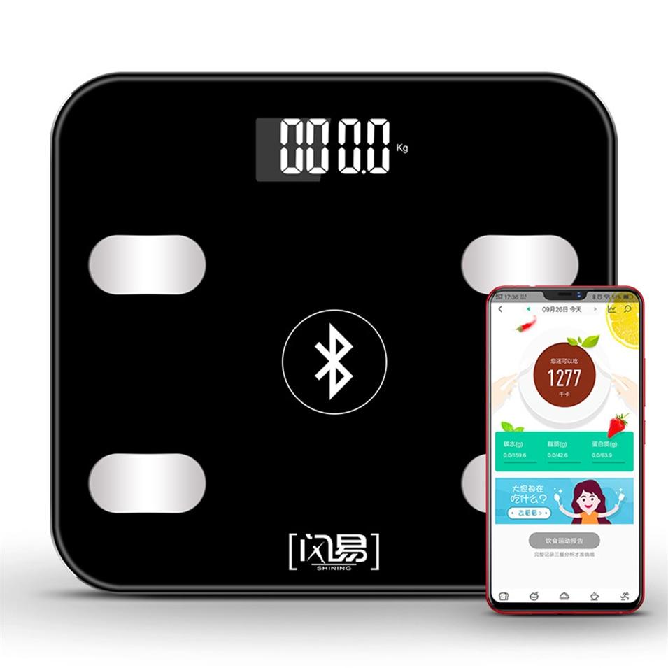 S4 LED Body Bathroom Scales Floor Scientific Smart Electronic Digital Fat Weight Household Balance Bluetooth APP PK gason gason черный