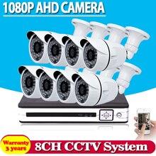 HD AHD-N H 8CH 1080 P DVR Kit 2.0MP Caméras de Sécurité système 8*1080 P Jour Nuit Vision CCTV de Sécurité À Domicile 3000TVL Caméra Kits