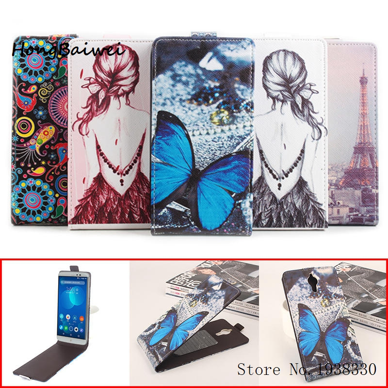 Hongbaiwei 5 Painted Styles For PPTV King 7 King 7S PP6000 Leather Flip Wallet Card Case For PPTV PP6000 Stand Holder Cover Hols