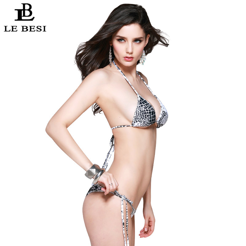 LEBESI 2017 Neue Sexy Reine Farbe Frauen Bikinis Set Verband Biquini - Sportbekleidung und Accessoires - Foto 2