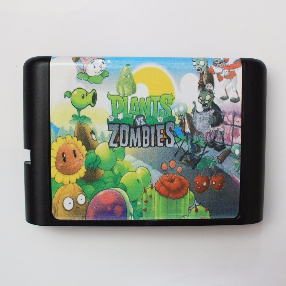Plants VS  Zombies 16 bit MD Game Card For Sega Mega Drive For Genesis