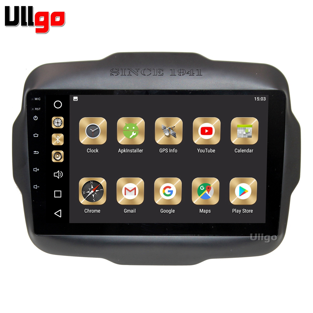 9 pouce 4g + 32g Android 8.0 Voiture DVD GPS pour JEEP RENEGADE Autoradio GPS Voiture Unité de Tête avec Radio RDS BT Miroir lien Wifi