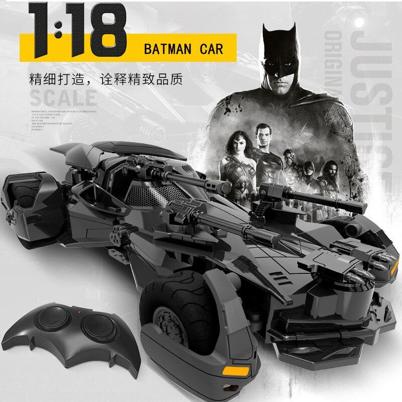 1:18 RC г 2,4 г Бэтмен Автомобиль Дети Рождество игрушка перезаряжаемые дистанционное управление автомобиля Лига Справедливости