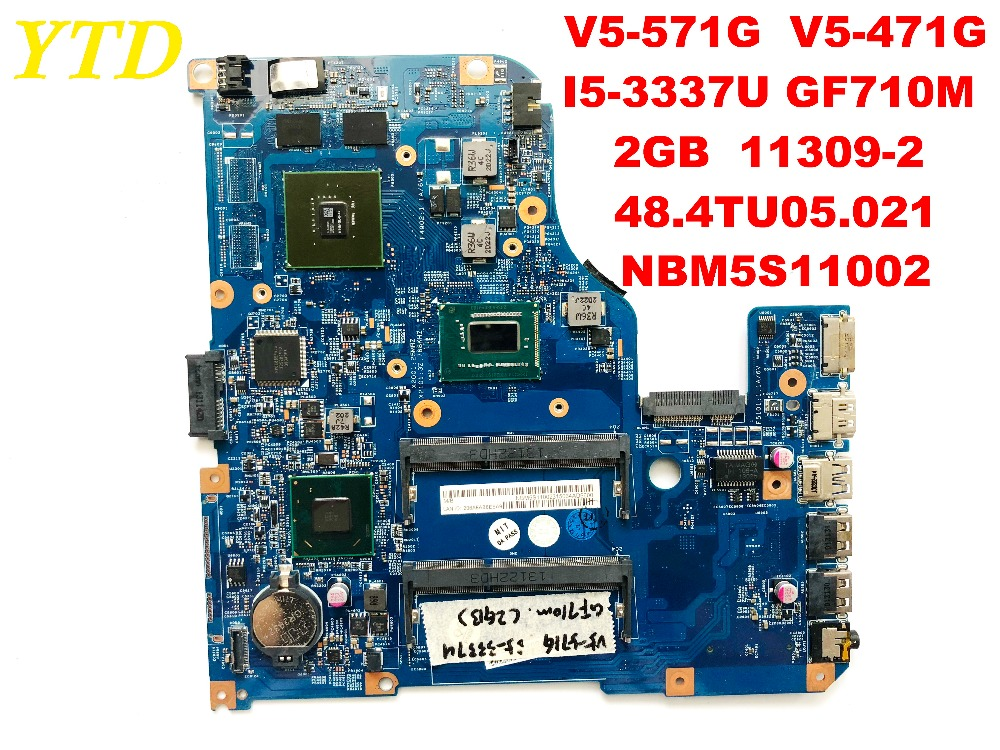 Original for font b ACER b font V5 471G V5 571G laptop motherboard I5 3337U GF710M