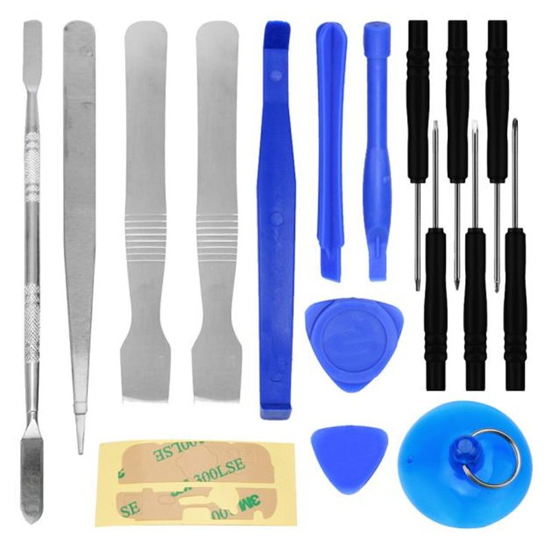 HOT SALE Car And Motorcycle tool 17 IN1 Universal Mobile Repair Opening Tool Kit Set Pry For iPhone 6S Smart Phone PC Vicky