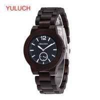 YULUCH 2018 Trend Brand Quartz Imported Movement Wooden Net with Sandalwood Watch Fashion Business Men's Suit Watch Gift