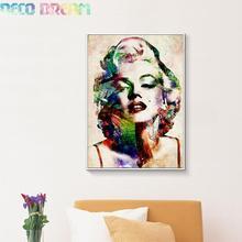 купить Diy Full Resin Round Diamond Painting Rhinestones Embroidery Kit Marilyn Monroe Antiqued Abstract Mosaic Decor As A Hobby Gift дешево