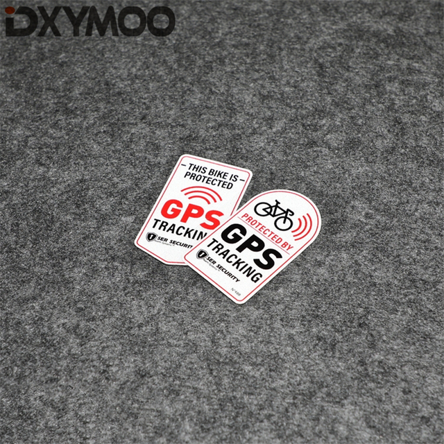 US $5 7 |Aliexpress com : Buy 2PCS Warning Funny Bike Stickers Protected By  GPS Alarm System Security Motorcycle Decals 7x4cm from Reliable Car