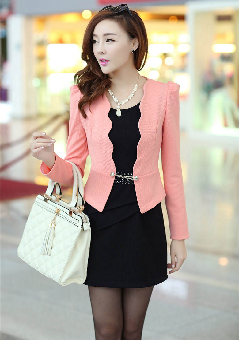 2015 New Clothing Set 2 Suits: Dress Coat Blazer Elegant Ruffle ...