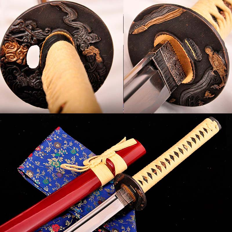 HANDMADE 1060 STEEL JAPANESE SAMURAI KATANA SWORD SHARP FULL TANG