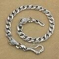Стерлингового Серебра 925 Огромный Крючок Рыба Дракон Мужские Байкер Рокер Брелок Цепочка для Бумажника 8F002WC2