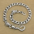 925 Sterling Silver Huge Fish Hook Dragon Mens Biker Rocker KeyChain Wallet Chain 8F002WC2