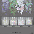 10ml/Box Colorful White Glitter Powder Tips 1mm & 2mm & 3mm Mixed Powder Glitter for Nail Art Decoration