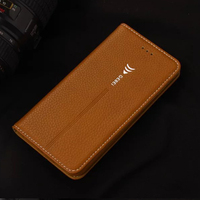 5S Case New Arrival Luxury Original Brand GEBEI Genuine Leather Flip Unique Magnet Design Stand Case