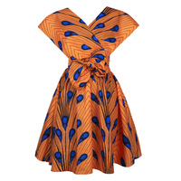 Women African Floral Dress Bandage Elegant Trendy Clothes Bohemia Dresses Chic 3D Dress Rockabilly Vestiti Donna Robe Femme Ropa