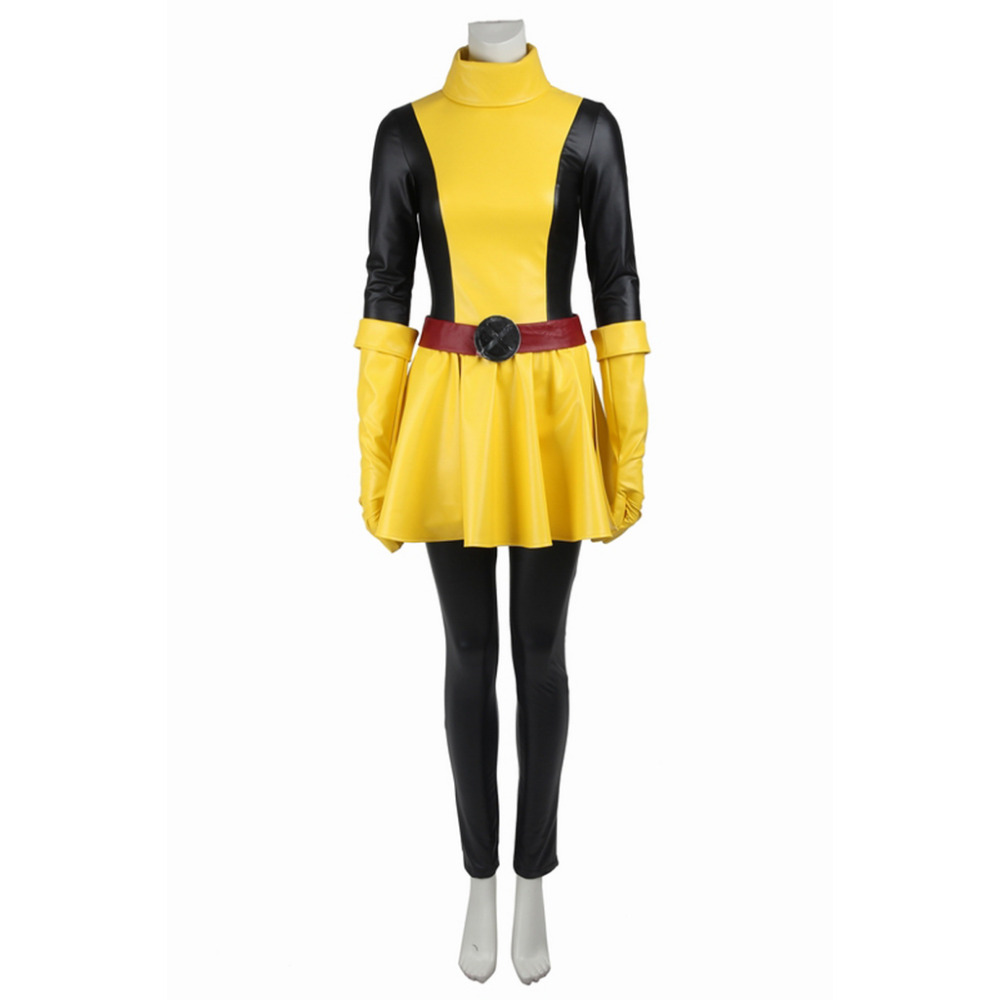 X-Men Magik Cosplay Costume For Adult Women Carnival Costumes Superhero Women Sexy Leather Suit Dress Custom Made