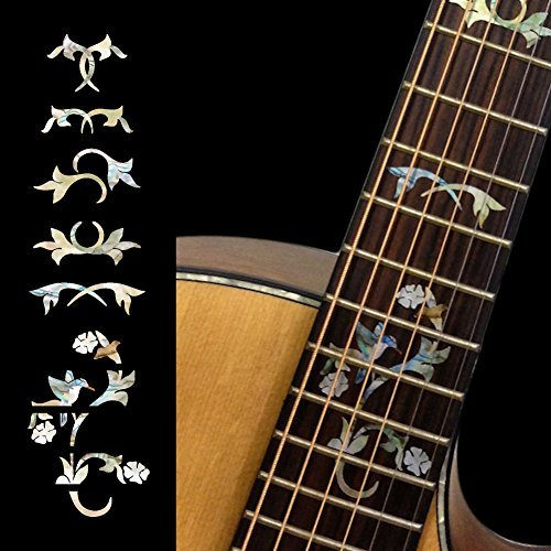 Fretboard Markers Inlay Sticker Decals for Guitar - Winding Vine w/Bird markers affecting colorectal carcinogensis