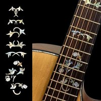Fretboard Markers Inlay Sticker Decals for Guitar Winding Vine w/Bird