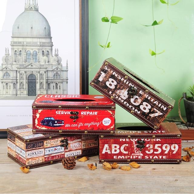 Creative Retro Rectangular Tissue Box Nordic Luxury High ...