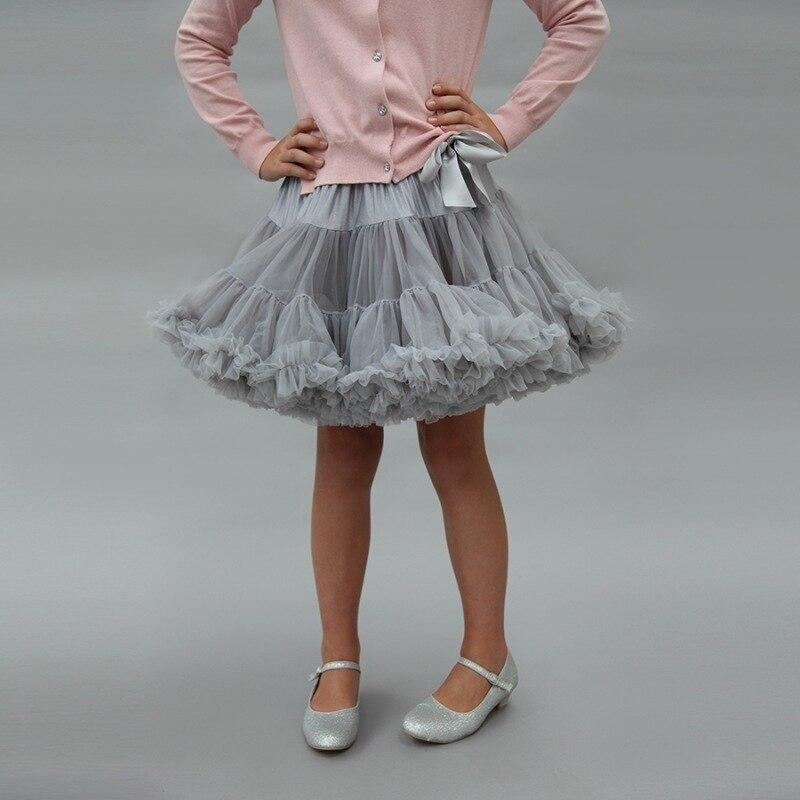 Bow patchwork Layer Fluffy Children Ballet Skirt Party Dance Kid Tulle Miniskirt 1-8T Mesh Girl Tutu Skirt Ballerina Pettiskirt mesh ballet light up cosplay party skirt