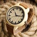 Movimento japonês Relógio de Pulso de Couro Genuíno De Madeira De Bambu Watche para Homens Mulheres Pulseira de Presente de Natal do Relógio relogio masculino