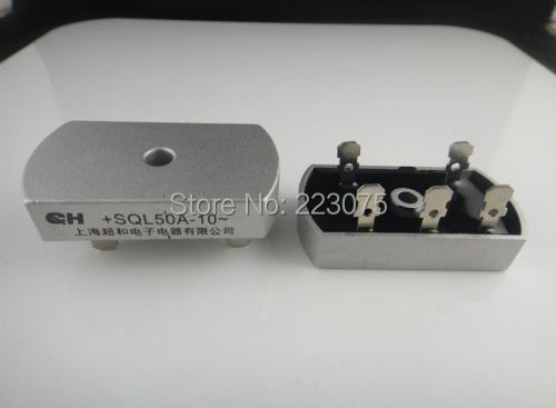 SQL50A Bridge Rectifier 3 Phase Diode 50A Amp 1000V New free shipping free shipping new singe phase diode bridge rectifier sql 200a 1600v modules