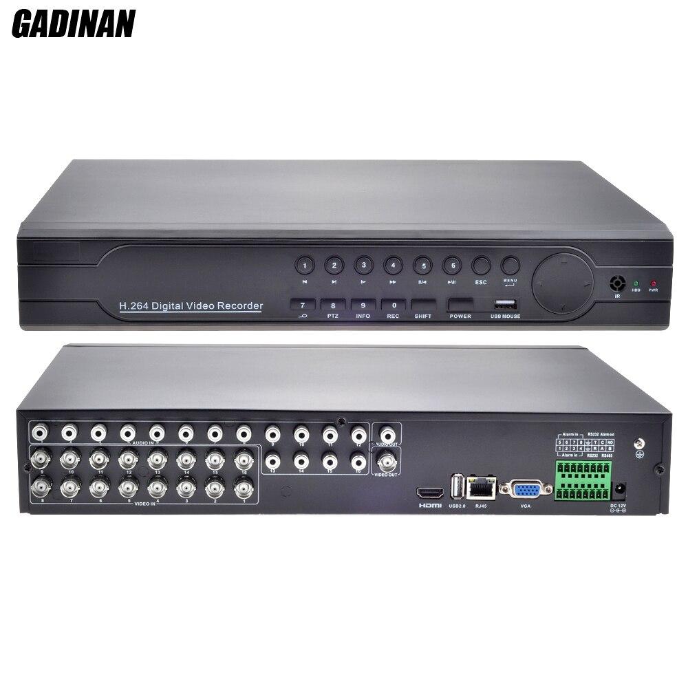 Gadinan 16CH 960 H D1 CCTV DVR реального времени воспроизведения с HDMI выход DVR 16-канальный гибридный DVR Onvif P2P для аналоговых CVBS Камера