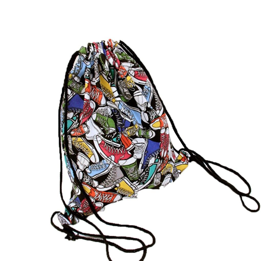 girl student drawstring pouch storage buggy bag pocket. Black Bedroom Furniture Sets. Home Design Ideas
