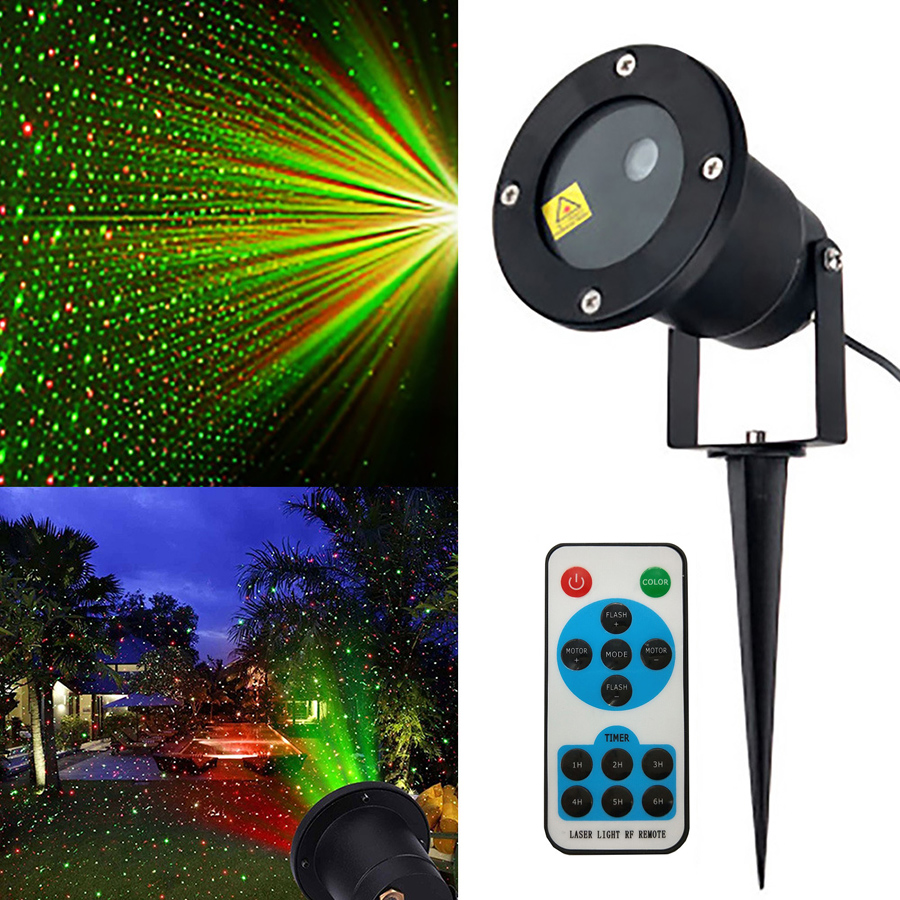 Thrisdar IP65 Outdoor RG Star Christmas Laser Projector Lamp Star LED Disco Stage Light Green Red Landscape Garden LED Spotlight beiaidi sky star outdoor christmas laser projector green red laser spotlight lamp landscape garden christmas stage light