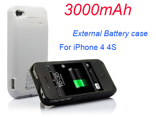 promo code 168a6 b314c US $14.89 |3000mAh External Battery Backup Power Charger Case for iPhone 4  power case for iphone 4s-in Battery Charger Cases from Cellphones & ...