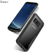 100 Ipaky Case For Samsung S8 S8 Plus Plastic And Silicon Rubber Heavy Duty Protection Clear