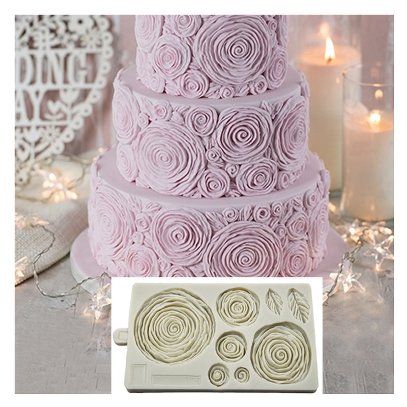 Ruffled Roses Mould Cake Decorating Tools Fondant Mold Silicone Mold For Sugarpaste Flower Paste Marzipan Modelling Paste K259