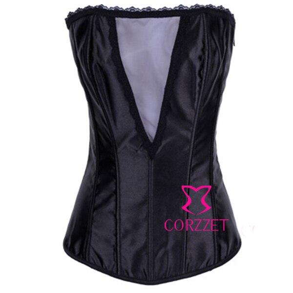 2437087ec9 Fantasy Women Black Waist Trainer Corsets Slimming Body Shaper Overbust Pin  Up Bustier Basque espartilhos Corpete