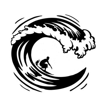 surfing surfs up waves car side sticker decal graphic Vinyl Hobby Car Bumper Sticker Rear Window Car Sticker image