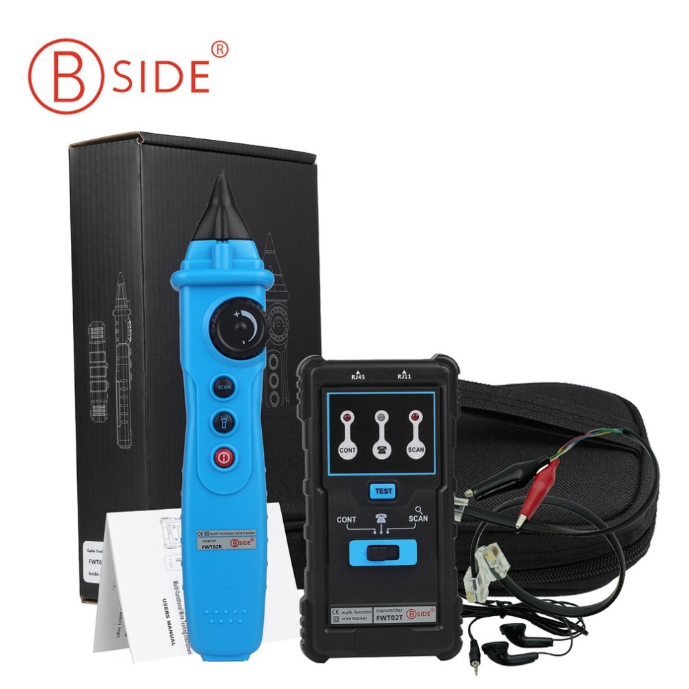 2017 Professional Bside FWT02 Multifunction Handheld Network Cable Tester RJ45 RJ11 Wire Tracker Tester Telephone Line Tester