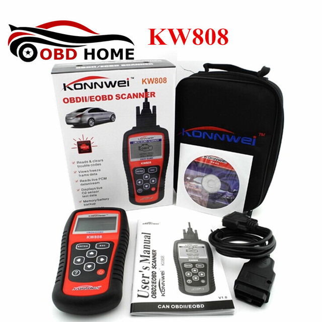 US $38 06 |OBD2 Scanner KW808 Car Diagnostic Tool Code Reader CAN Engine  Reset Tool KONNWEI Auto Scanner Coverage(US Asian & European)-in Code  Readers
