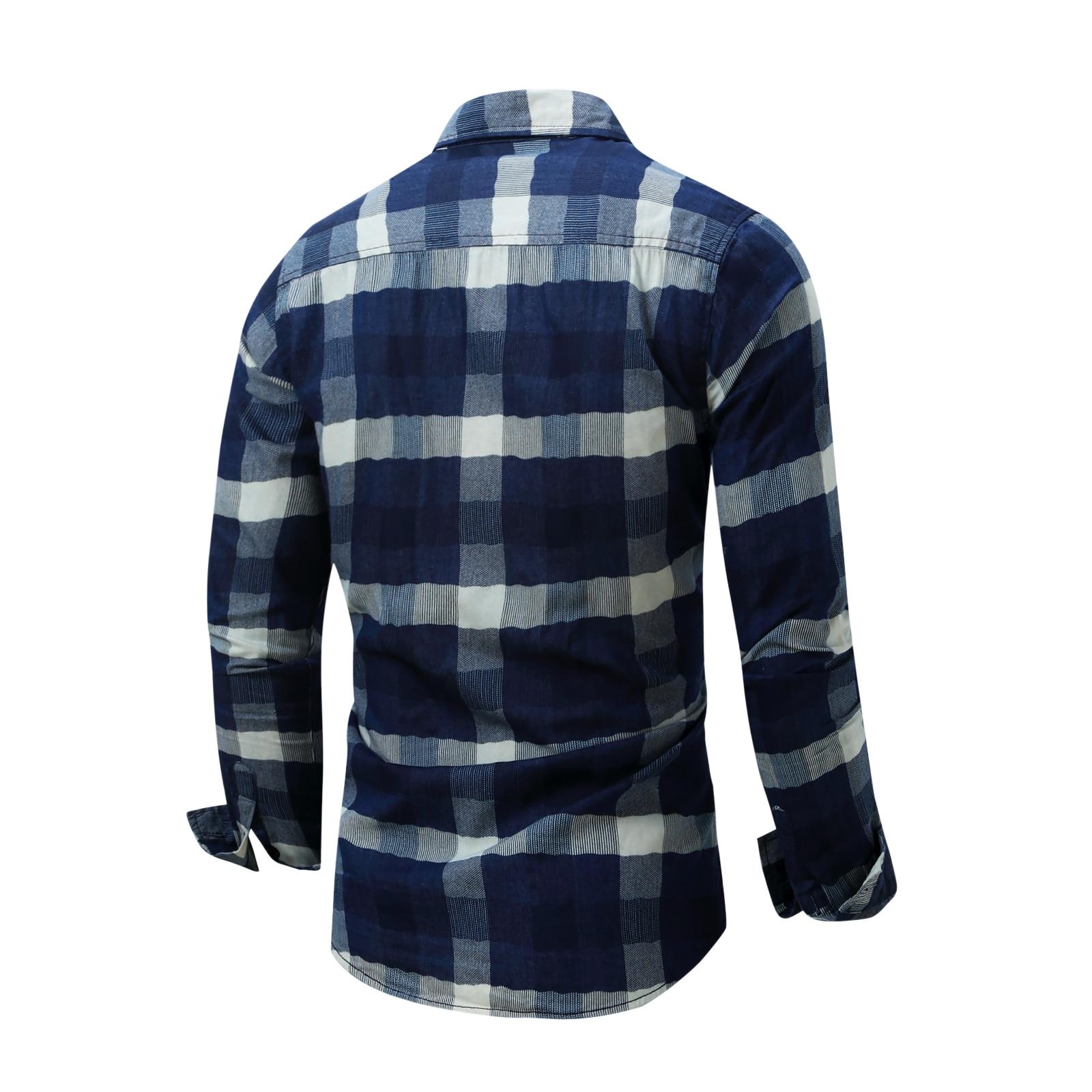 1bc438a6cc1d Fredd Marsha New Casual Shirt Men Plaid Male Shirts Top Slim Fit Long  Sleeve Plaid Cuff Spring Autumn Camisa Masculina