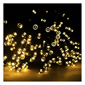 Ambiente KSOL 12 m 100 LED Solar Powered LED Luces de Hadas de Cuerda para Casas de Jardines Al Aire Libre Fiesta de Navidad (Caliente Luces blancas)