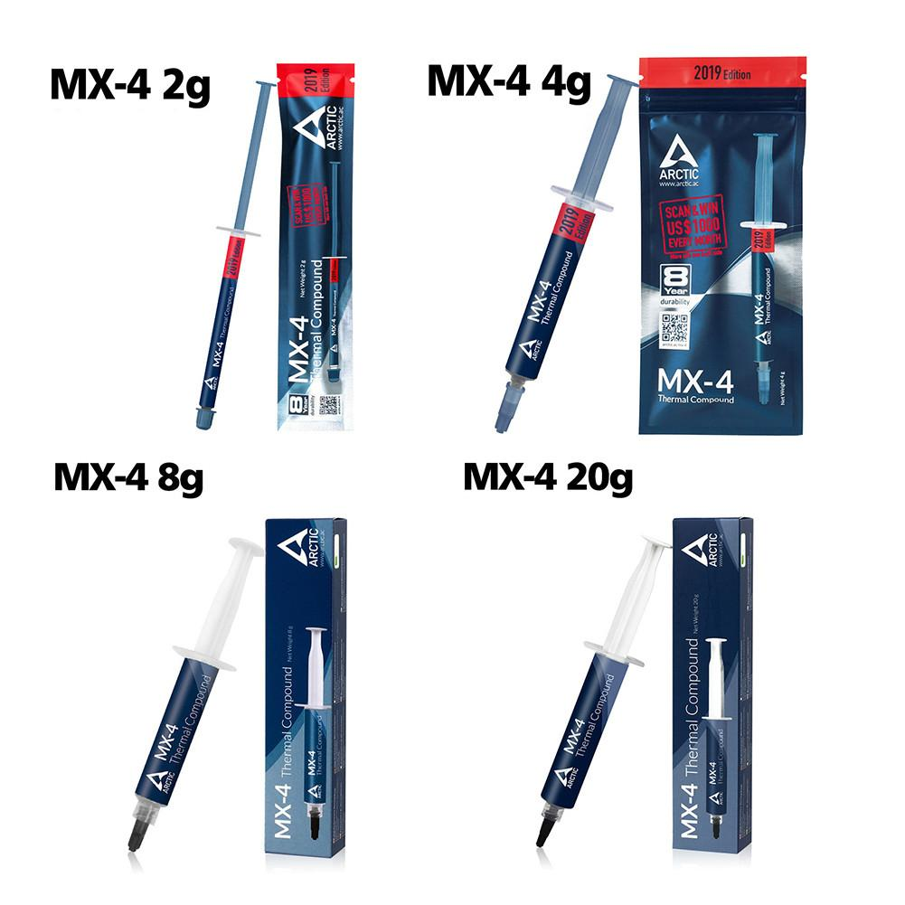 MX-4 Intel Thermal Paste 2g 4g 8g 20g 8.5W/mk CPU Thermal Silicone Cooling VGA Compound Thermal Paste For Computer