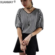 Spring Women Striped Casual Pullover Thin Sweater Korean Fashion Knitting Pullover Sweater Spring Loose Women's tops(China)