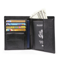 Brand Business Genuine Leather Thin Men Wallet Card Holder Short Passcard Pocket Organizer Wallet With Coin