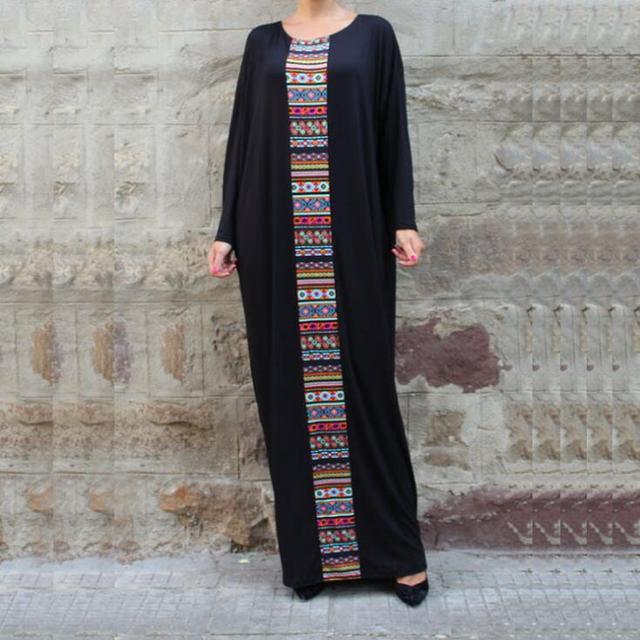 546086b51d1 Black Kaftan Maxi Dress Plus Size Caftan Abaya Aztec Print Dubai India  African Moroccan Dress 470