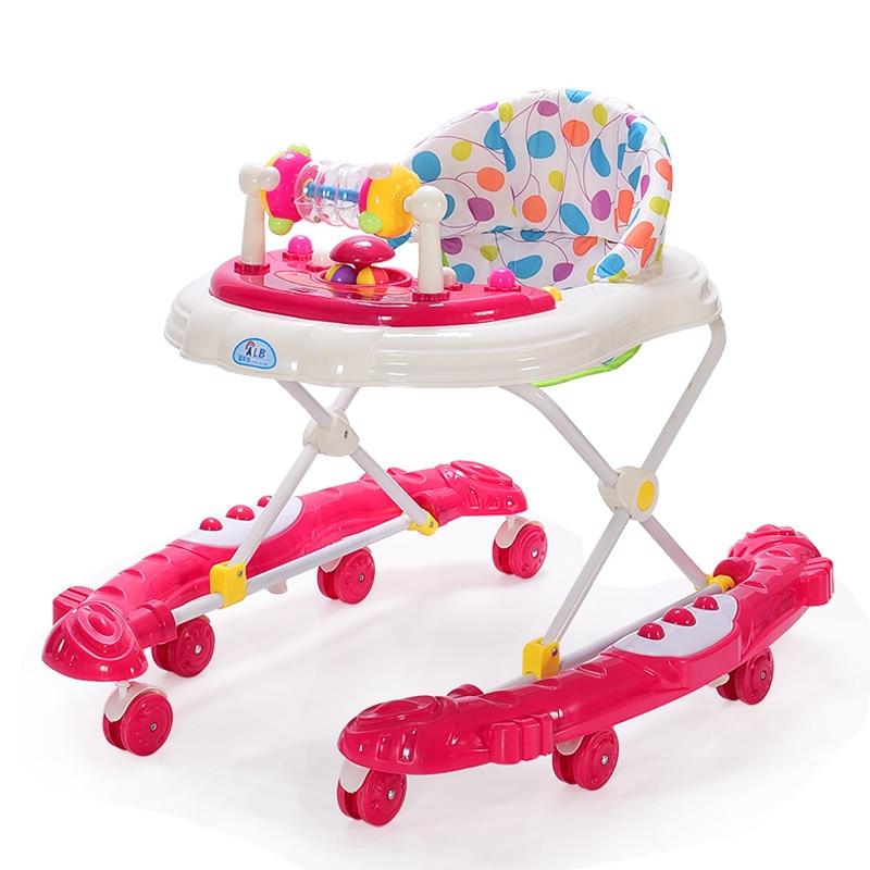 Nouveau-né bébé marcheur avec roues musique multifonction bambin marcheur voiture bébé garçon fille Anti renversement apprendre à marcher Assistant 6-18 M