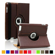 360 Rotation PU Leather cover for Apple iPad Air 2 Smart case flip shell with stand function for iPad 6 with Retina Fundas 360 rotation retina pu leather case for apple ipad mini 1 2 3 with stand function flip cases smart cover
