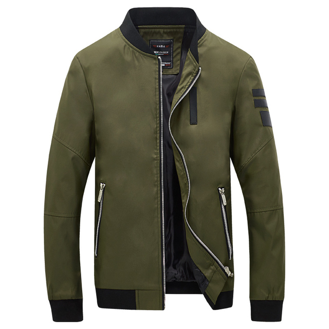 New Fashion Korean Style Men S Jackets Solid Stand Collar Casual