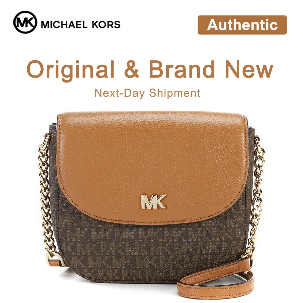 Michael Kors Half Dome Leather Crossbody Luxury Handbags For Women Bags  Designer by Michael Kors