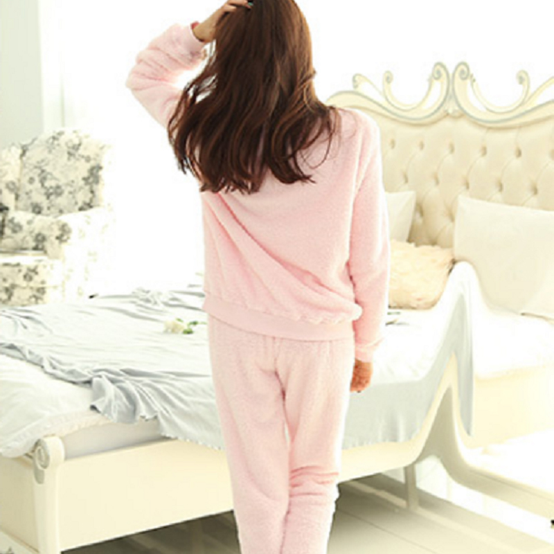 Winter New Cute Flannel Women Pyjamas Cartoon Owl Warm Comfortable Pajamas  Suit Pink Gray Girl Family Sleep Clothes Onesie-in Pajama Sets from  Underwear ... cd2507d0b