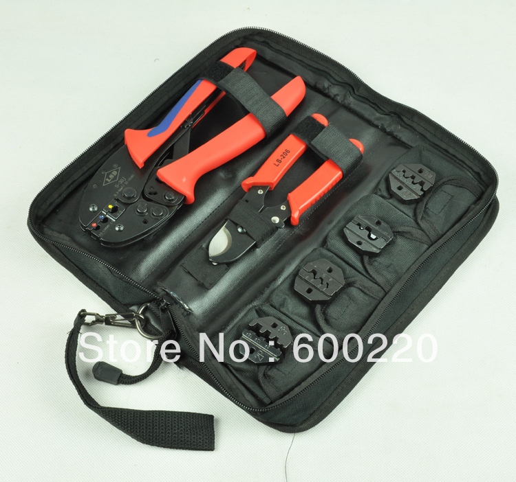 ФОТО new design multi-function combined crimping tools set with crimping tool,cable cutter,4 dies