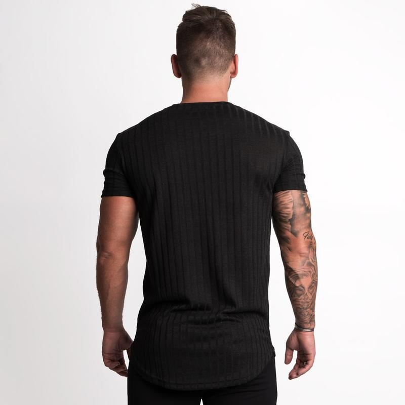 New Mens Short sleeve   T  -  shirt   Casual Fashion Skinny Tee   Shirt   Male Gyms Fitness Bodybuilding Joggers Black Tops Brand Clothing